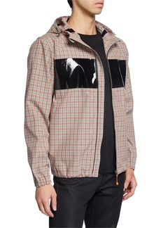 Helmut Lang Men's Sport Plaid Zip-Front Jacket