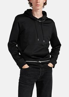 Helmut Lang Men's Zip-Detailed Knit Hoodie