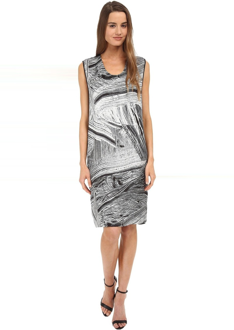 HELMUT LANG Method Print Silk Dress