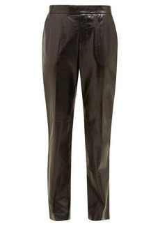 Helmut Lang Mid-rise leather trousers
