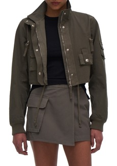 Helmut Lang Military Bomber Crop Cotton Jacket
