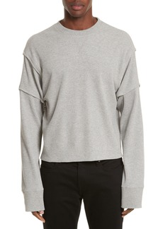 Helmut Lang Military Panel Sleeve Thermal Shirt