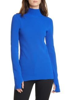 Helmut Lang Mock Neck Ribbed Sweater