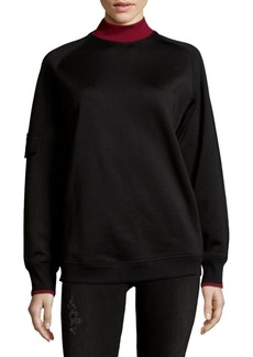Helmut Lang Mockneck Boxy Sweater