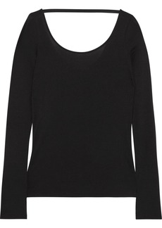 Helmut Lang Modal and Pima cotton-blend top