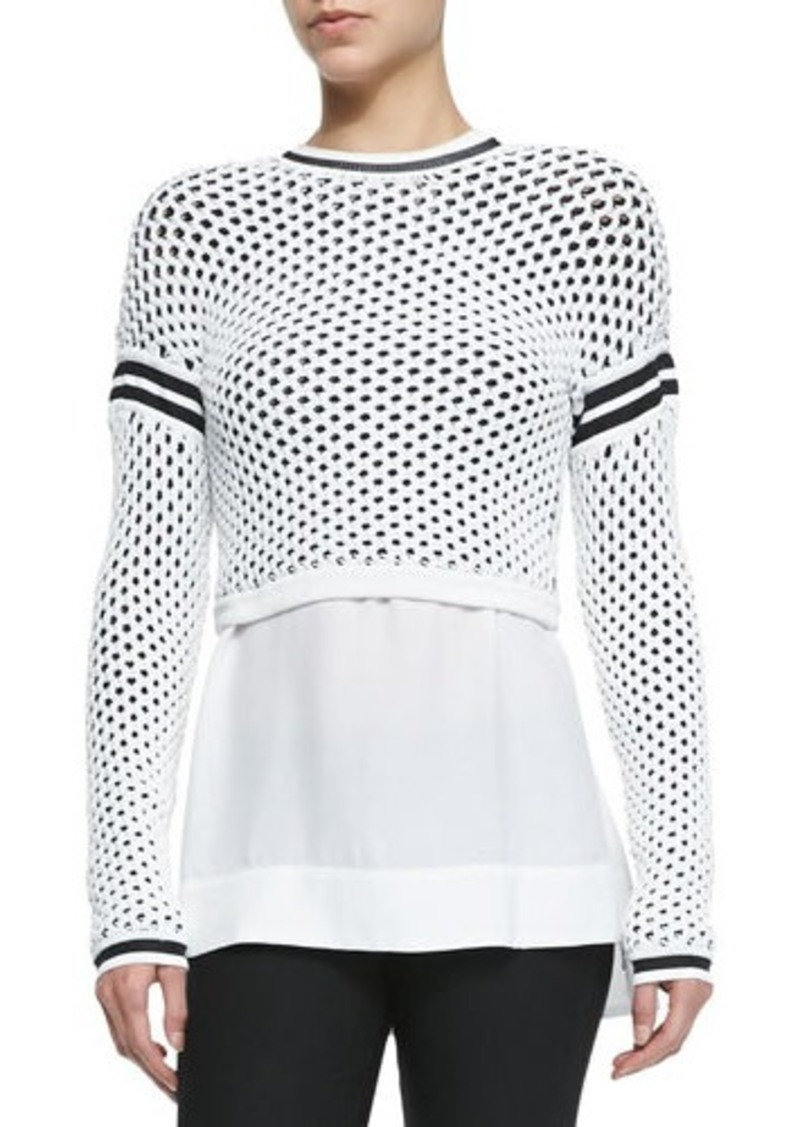 Helmut Lang Modern Mesh Pullover with Taping Details