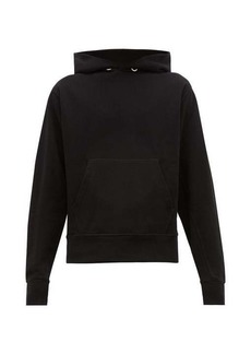 Helmut Lang Monogram-embroidered cotton hooded sweatshirt