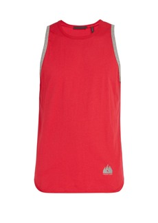Helmut Lang Mountain-logo ringer cotton tank top