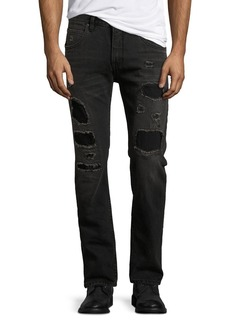 Helmut Lang Mr. 87 Slim-Fit Destroyed Jeans