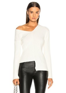 Helmut Lang Off Shoulder Longsleeve Sweater