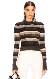 Helmut Lang Ombre Shrunken Crew Neck Sweater