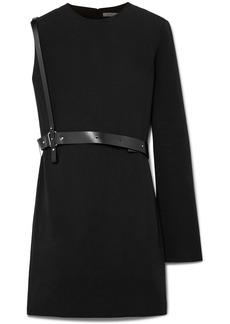 Helmut Lang One-shoulder belted crepe mini dress