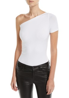 Helmut Lang One-Shoulder Seamless Bodysuit