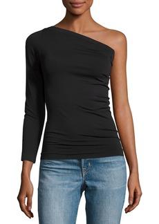 Helmut Lang One-Shoulder Stretch Jersey Top