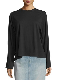 Helmut Lang Open-Back Pima-Blend Top  Black