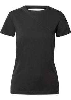 Helmut Lang Open-back Stretch-cotton Jersey T-shirt