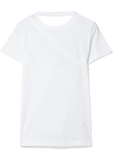 Helmut Lang Open-back stretch-cotton jersey T-shirt