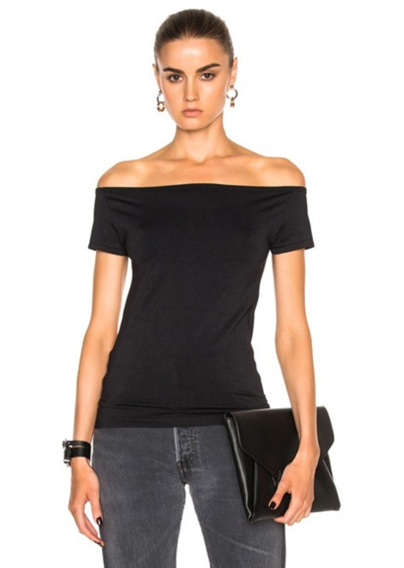 Helmut Lang Open Boat Neck Top