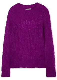 Helmut Lang Open-knit Mohair-blend Sweater