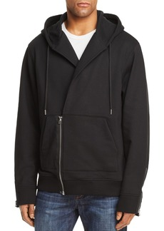 Helmut Lang Overlap Zip Hooded Sweatshirt