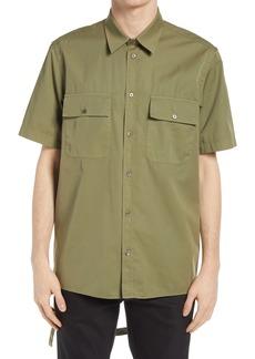 Helmut Lang Oversize Twill Button-Up Shirt
