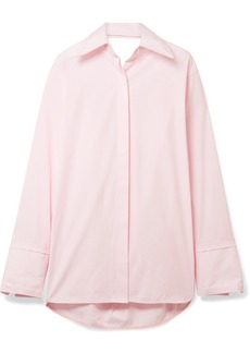 Helmut Lang Oversized Cutout Cotton-poplin Shirt