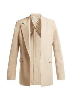 Helmut Lang Oversized single-breasted twill blazer
