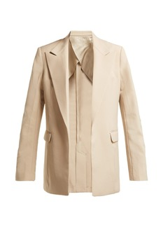 Helmut Lang Oversized single-breasted twill blazer