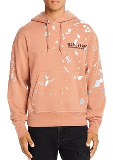 Helmut Lang Paint-Splattered Logo Hooded Sweatshirt