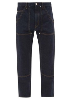 Helmut Lang Panelled tapered-leg jeans