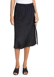 Helmut Lang Parachute Side Tie Midi Skirt