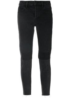 Helmut Lang patchwork cropped jeans - Black