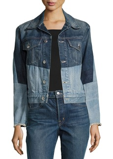 Helmut Lang Patchwork Two-Tone Denim Jacket