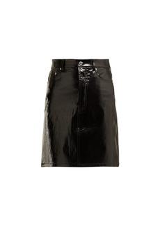 Helmut Lang Patent leather mini skirt