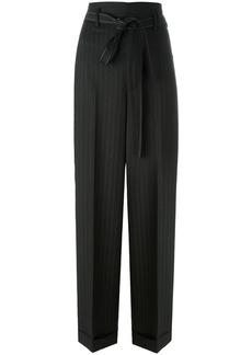 Helmut Lang pinstripe paper bag pants - Grey