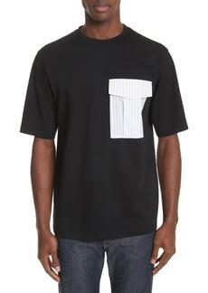 Helmut Lang Pinstripe Pocket T-Shirt