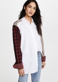 Helmut Lang Plaid Patchwork Shirt