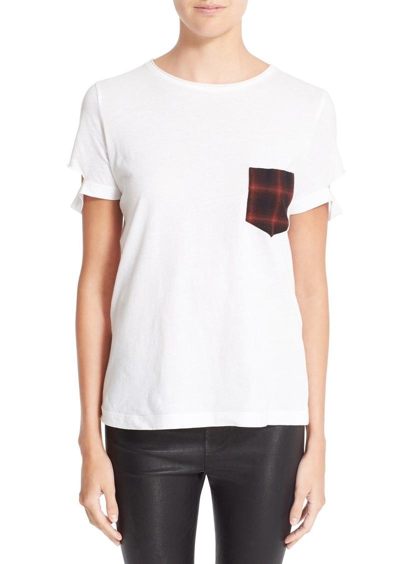 cbc1f71db Helmut Lang Helmut Lang Plaid Pocket Slash Tee | Casual Shirts