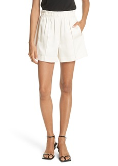 Helmut Lang Pleated Silk Blend Shorts