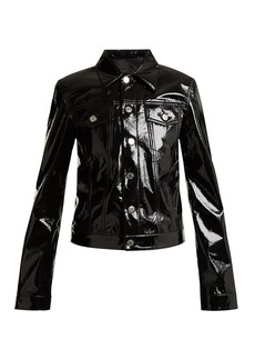 Helmut Lang Point-collar patent jacket