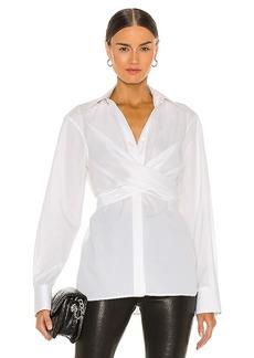 Helmut Lang Poplin Wrap Shirt