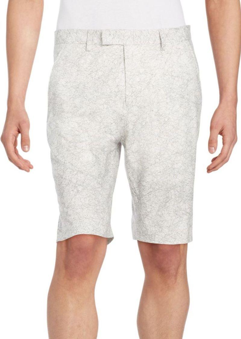 Helmut Lang Printed Stretch Cotton Shorts