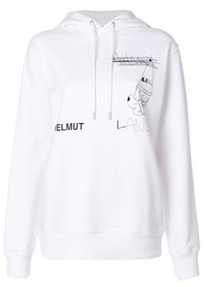 Helmut Lang Puppy hoodie - White
