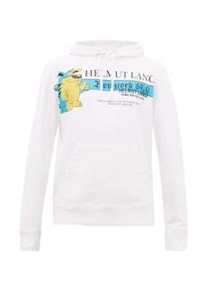 Helmut Lang Radio-print cotton hooded sweatshirt