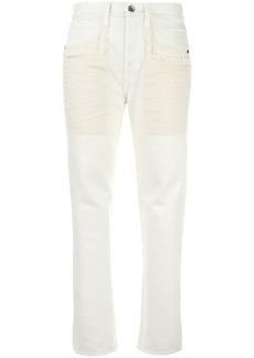 Helmut Lang raw edge jeans - White