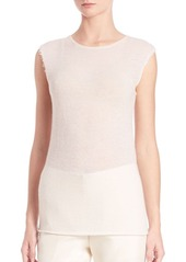 Helmut Lang Raw-Edged Cashmere Tee
