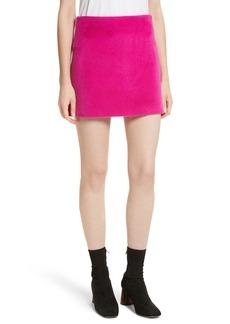Helmut Lang Re-Edition Brushed Alpaca & Wool Skirt