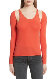 Helmut Lang Re-Edition Ribbed Tank Top with Long Sleeves