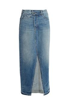 Helmut Lang Reconstructed denim skirt