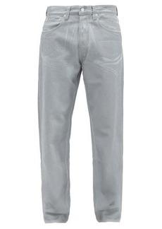 Helmut Lang Reflective low-rise wide-leg jeans